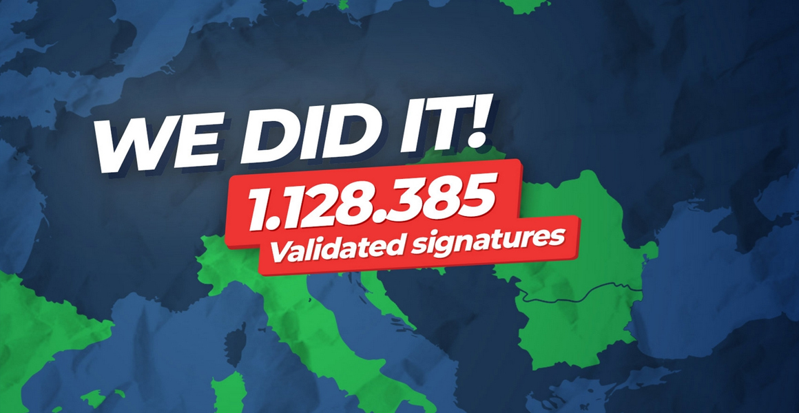 The signatures for the Minority SafePack Initiative have been registered online at the European Commission